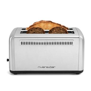 Grille pain électique Toaster Inox 2 fentes Extra-Longues Riviera&Bar