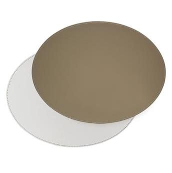 Set de Table ovale FreeForm 45 x 34 BLANC TAUPE