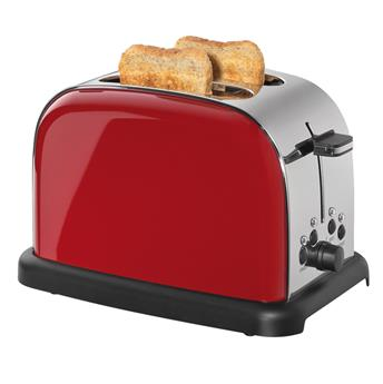 Grille Pain Toaster Cilio 1050 W  2T Inox Rouge