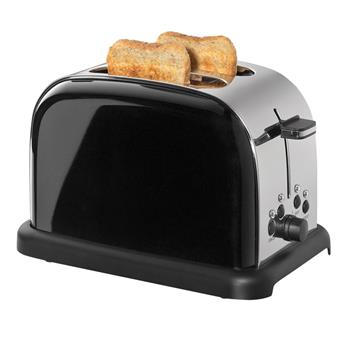 Grille Pain Toaster Cilio 1050 W  2T Inox Noir