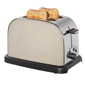 Grille Pain Toaster Cilio 1050 W  2T Inox Crème
