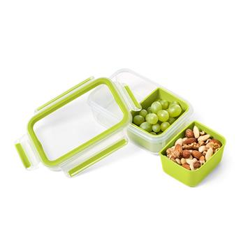 CLIP & Go Boite alimentaire rectangle 2 compartiments Emsa 0.55 L