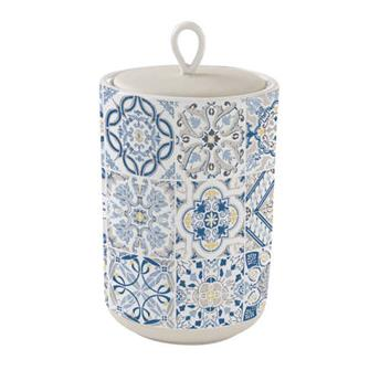 CASA DECOR Pot de rangement Conservation en Porcelaine D 16 cm Bleu