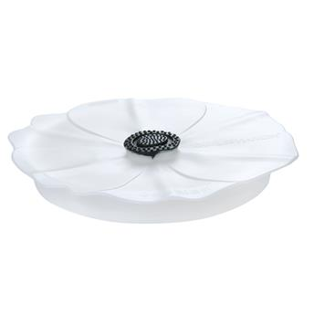 Couvercle en silicone étirable Poppy Pop Charles VIANCIN  Blanc Lilas D28