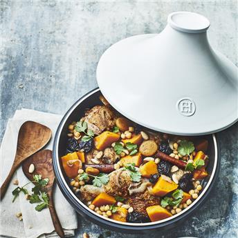 Delight Tajine Céramique Induction Emile HENRY Blanc D32