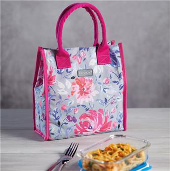 Sac Lunch Box isotherme 4 L KitchenCraft Fleurs Rose