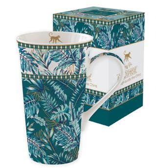 ATMOSPHERE Jungle Coffret Mega mug 60 cl porcelaine Vert