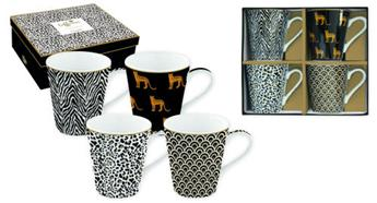 Coffee Mania Savana Mug Conique Porcelaine Noir - les 4  SC