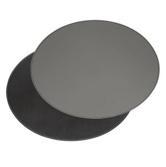 Set de Table ovale FreeForm 45 x 34  GRIS NOIR