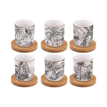Coffee Mania Retro Jungle Tasse Expresso Porcelaine - les 6